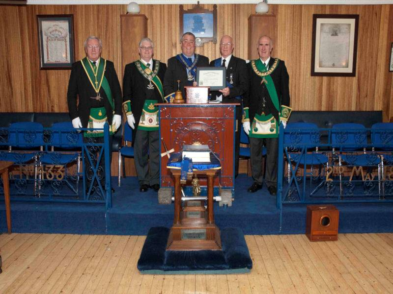 Presentation of Distinguished Service Diploma to Bro. Billy Johnstone