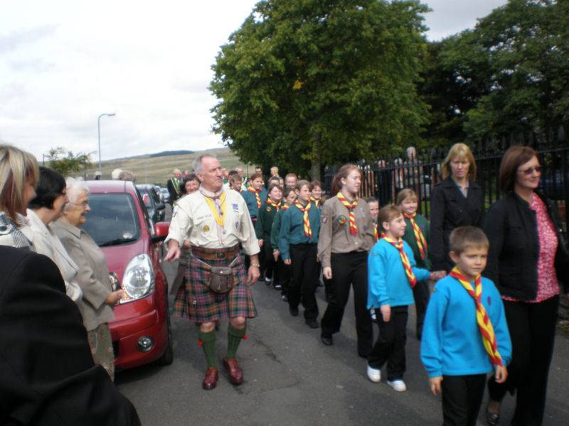 Scout Flag Dedication Parade