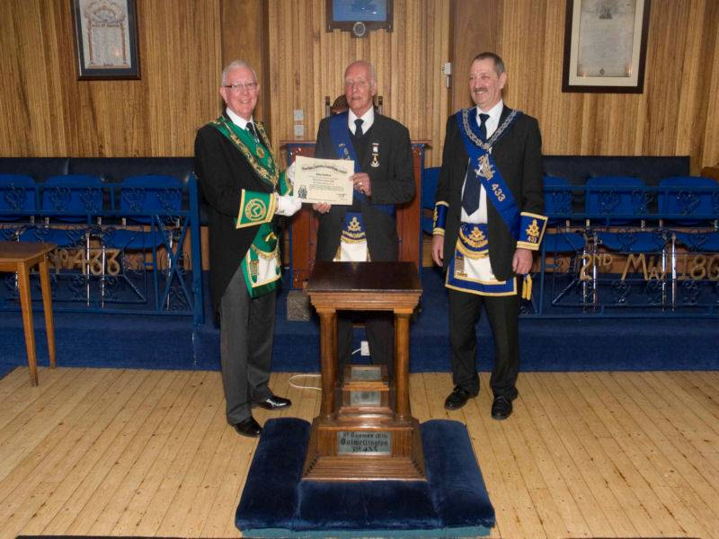 Presentation of 50 Year Diploma to Tom Chalmers