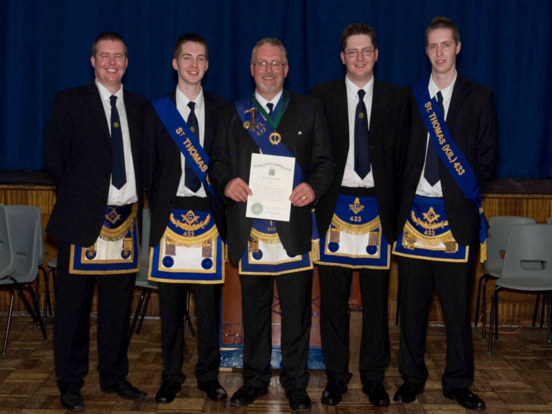 Presentation of Honorary Provincial Grand Tyler to Bro. Robert Calderwood