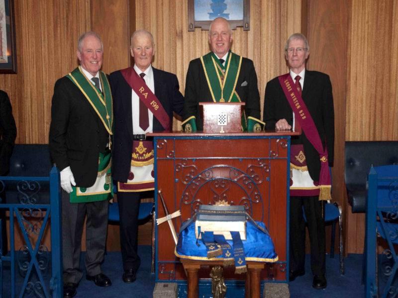 Presentation of 70 Year Diploma to Bro. Hugh Hainey